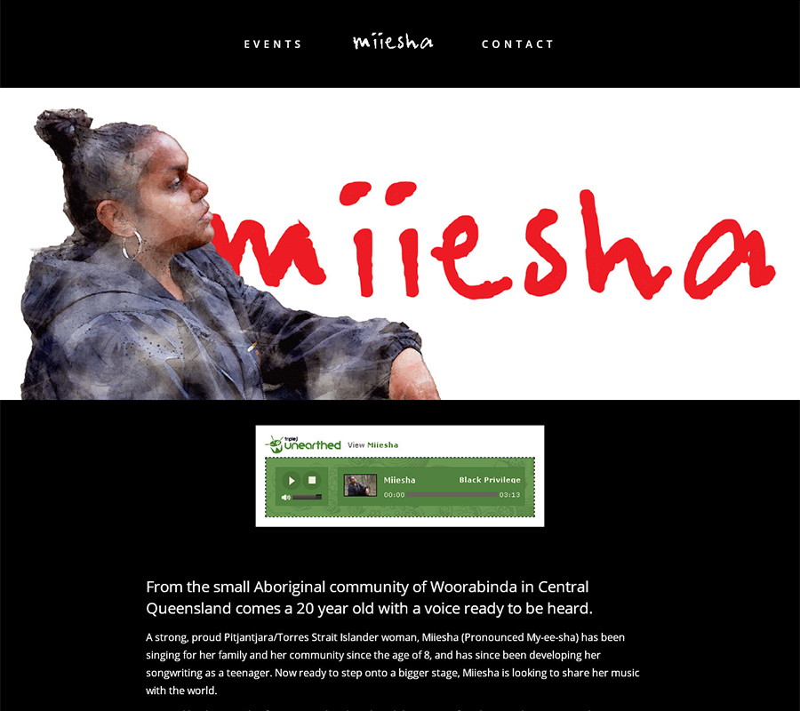 Miiesha website